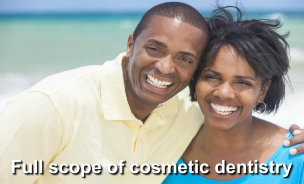 Full scope of cosmetic dentistry